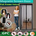 "Magnetic Screen Door, Kokome Heavy Duty Top to Bottom Ultra Seal Magnets Shut Automatically Instant Bug Mesh Curtain Protective Net Netting with Full Frame Velcro, Fits Door Size up to 34""-82"""