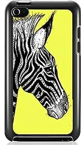 zebra print pattern Hard Case for Apple iPod touch 4 4G 4TH ( Sugar Skull ) Kimberly Kurzendoerfer