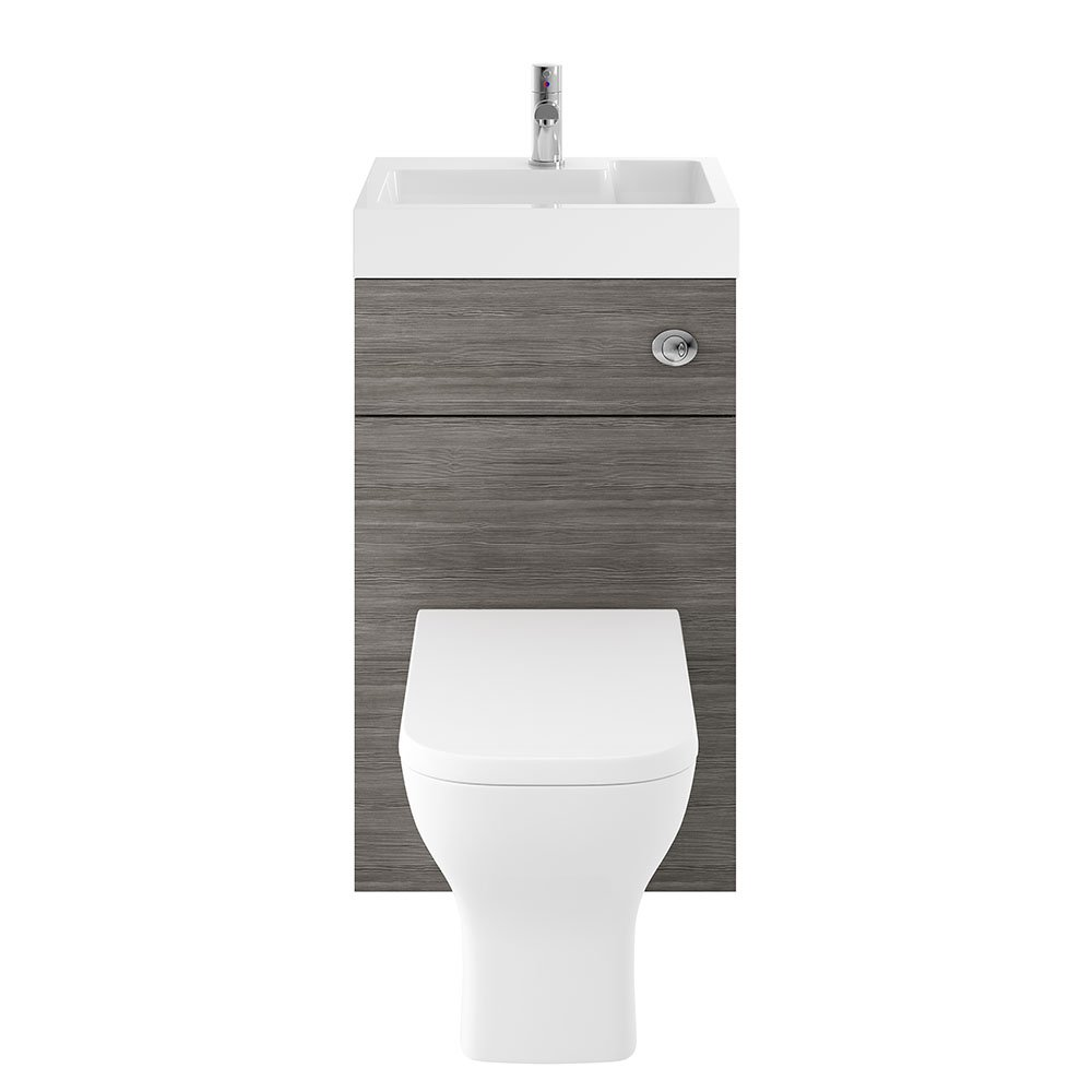 Premier PRC245CB Athena 2-in-1 Basin/WC Furniture Unit, Driftwood, 500 mm