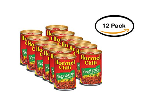 PACK OF 12 - Hormel Chili Vegetarian with Beans, 15 oz by Hormel