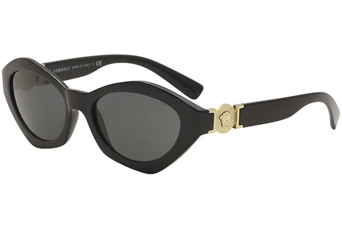 Versace 0Ve4334, Gafas de sol para Mujer, Black 54: Amazon ...