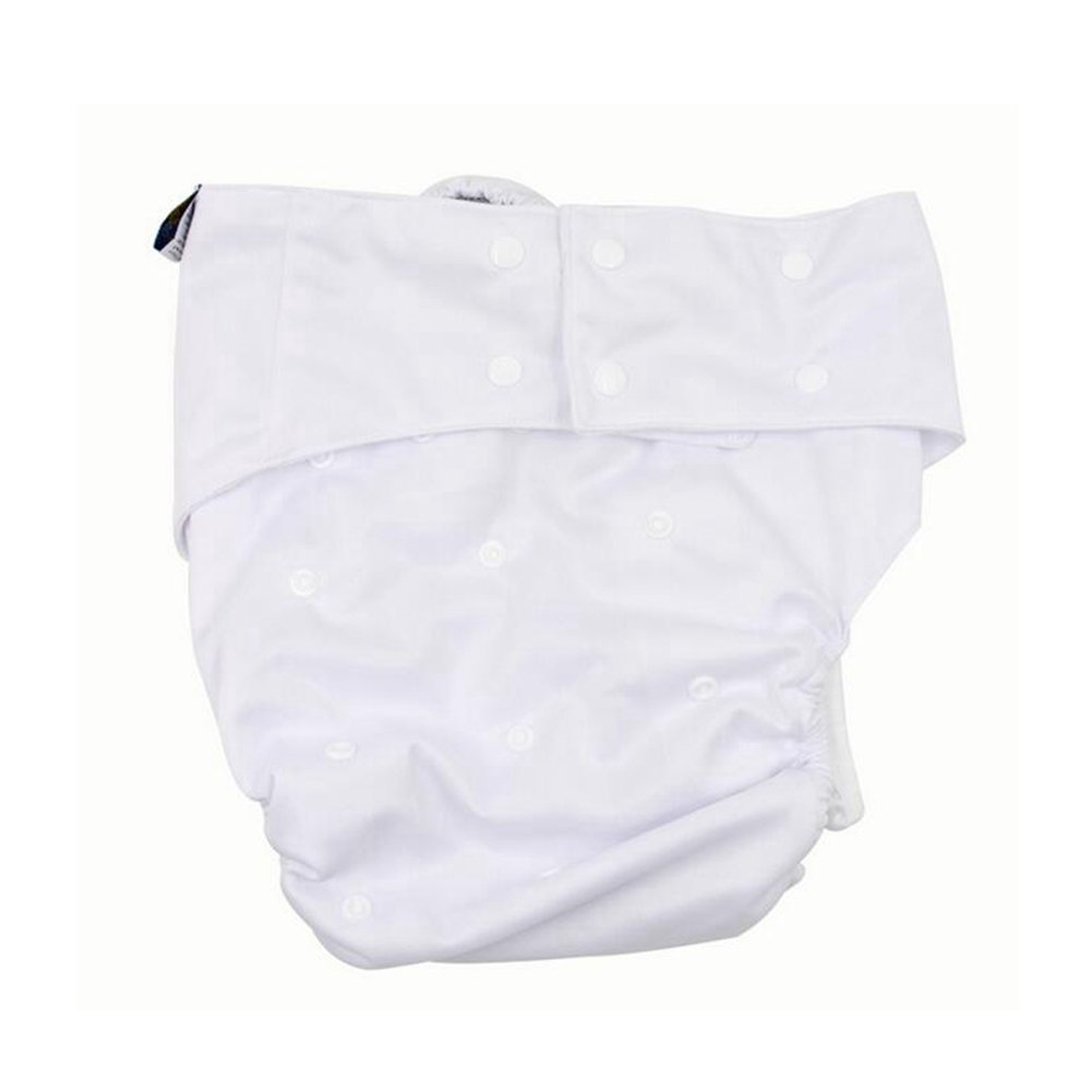 LukLoy - Teen / Adults Cloth Diapers with 2pcs Inserts for Incontinence Care -Dual Opening Pocket Washable Adjustable Reusable Leakfree (White) Shenzhen M-Home Co. Ltd W-D1322