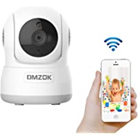 DMZOK WiFi Camera, Wireless Security Camera, Nanny Cam, WiFi IP Camera (White2 720P)