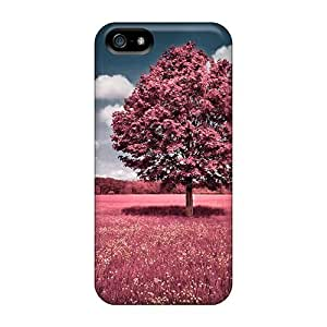 Tpu Case Cover For Iphone 5/5s Strong Protect Case - Salmon Spring Design Kimberly Kurzendoerfer