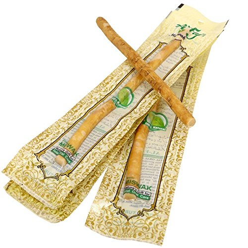 Miswak Stick, Natural Herbal toothbrush, Box of 10 Individual Sticks, Al Fajr