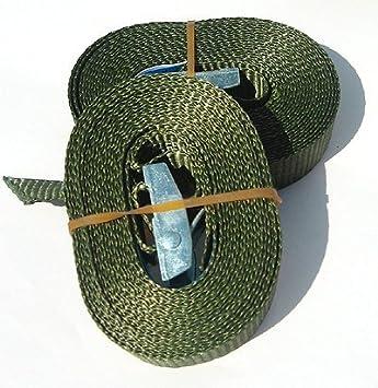 braun oliv in schwarz o Bundeswehr oliv o iapyx/® 4x Spanngurt Klemmschloss Spanngurte Zurrgurt Lasten-Verzurrgurt Duo250 Befestigungsriemen 2.5m 125//250kg