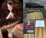 20pcs 18″ Inches Tape In Remy Seamless Super Thin Skin Weft PU Straight Human Hair Extensions Strawberry Blonde Mix Light Blonde For Sale