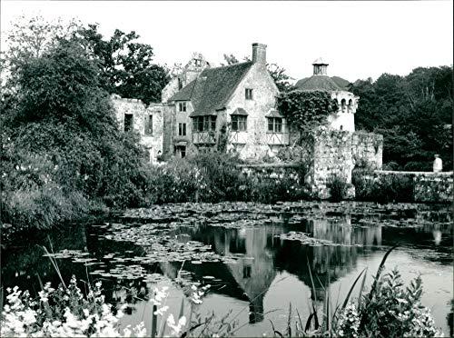 Vintage photo of Scotney Castle.
