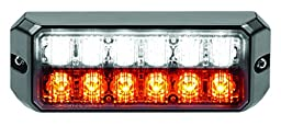 Federal Signal MPS1200-WA MicroPulse 12 LED Exterior/Perimeter Light, Class 1, Surface Mount, Clear Lens with Amber/White LEDs
