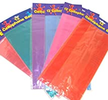 Assorted Colored Cellophane Bags (6 dz)