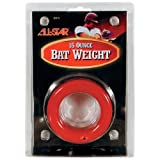 20 oz Juniors Red Baseball Bat Weight Donuts (Fits All Little League, Big Barrel, Softball Bats)