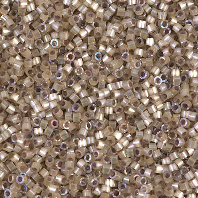 Miyuki Delica 11/0 Cylinder Seed Beads - Dyed Smokey Quartz Silk Satin - DB0680 5 - Cylinder Quartz