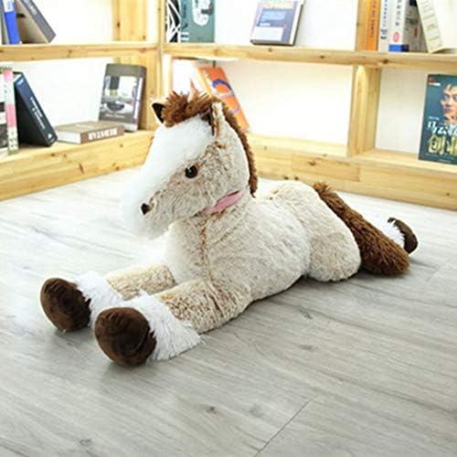 馬 ぬいぐるみ 腰当てクッション 膝下枕 縫い包み ウマ 巨大 ふわふわ ネムネム すやすや寝る 超大サイズ 癒しグッズ 120cm(ブラウン) ホワイトデー 卒業式 キッズ 子供の日 多機能抱き枕 読書枕