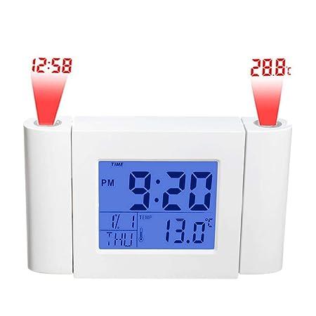JNS Factory Reloj Digital Directo con 2 proyectores con Hora ...