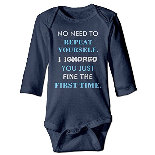 Richard Unisex Newborn Bodysuits Funny repeat Yourself Baby Babysuit Long Sleeve Jumpsuit Sunsuit Outfit 24 Months Navy