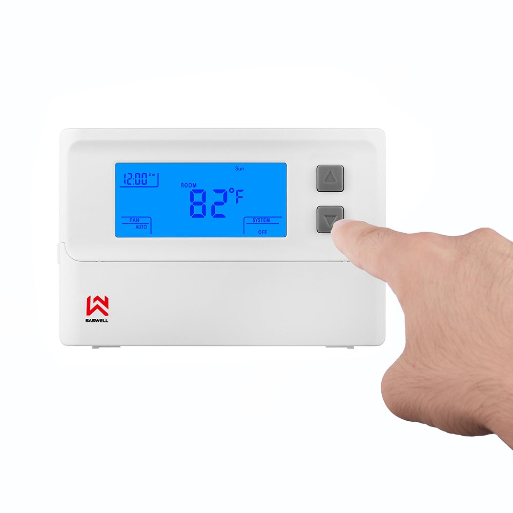 Non-programmable Single Stage Thermostat For Room,24 Volt Or Millivolt System,1H/1C,Heat Pump Thermostat,Saswell T21STK-0 by Saswell (Image #5)