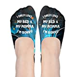 I Only Love My Bed And My Momma Iâ€m Sorry Women's Thin Casual No Show Socks Non Slip Flat Boat Line