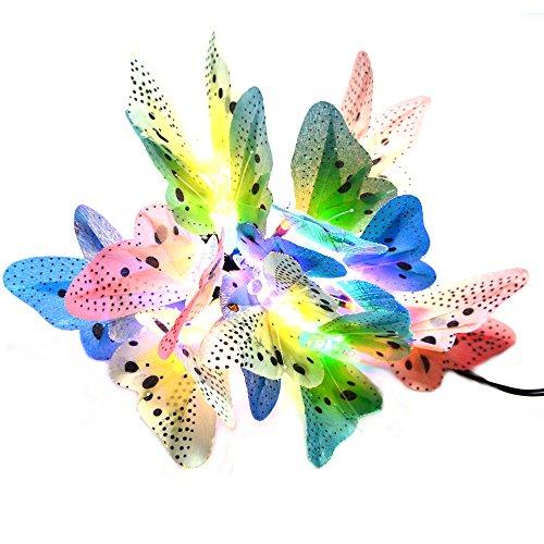 INST Solar Fiber Optic Butterfly String (Fiber Butterfly Light String)