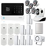 Golden Security Touch screen keypad OLED display WIFI GSM IOS Android APP Wireless Home Burglar Security Alarm System + HD IP Camera