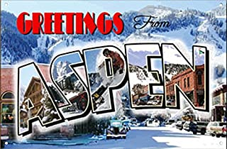 product image for Surf To Summit Aspen Colorado Metal Sign, Ski Lodge, Aspen Sign, Colorado Mountain, Greeting Sign