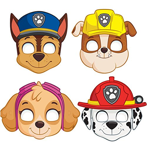 PAW Patrol Party Masks, Assorted 8ct (2 pack) ()