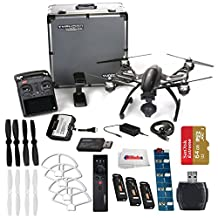 YUNEEC Q500 4K Typhoon Quadcopter with CGO3-GB Camera and Aluminum Case includes SanDisk 64GB Extreme Pro microSD + High Speed Card Reader + 2 Pairs White Propeller Blades + Simulator & More!!!