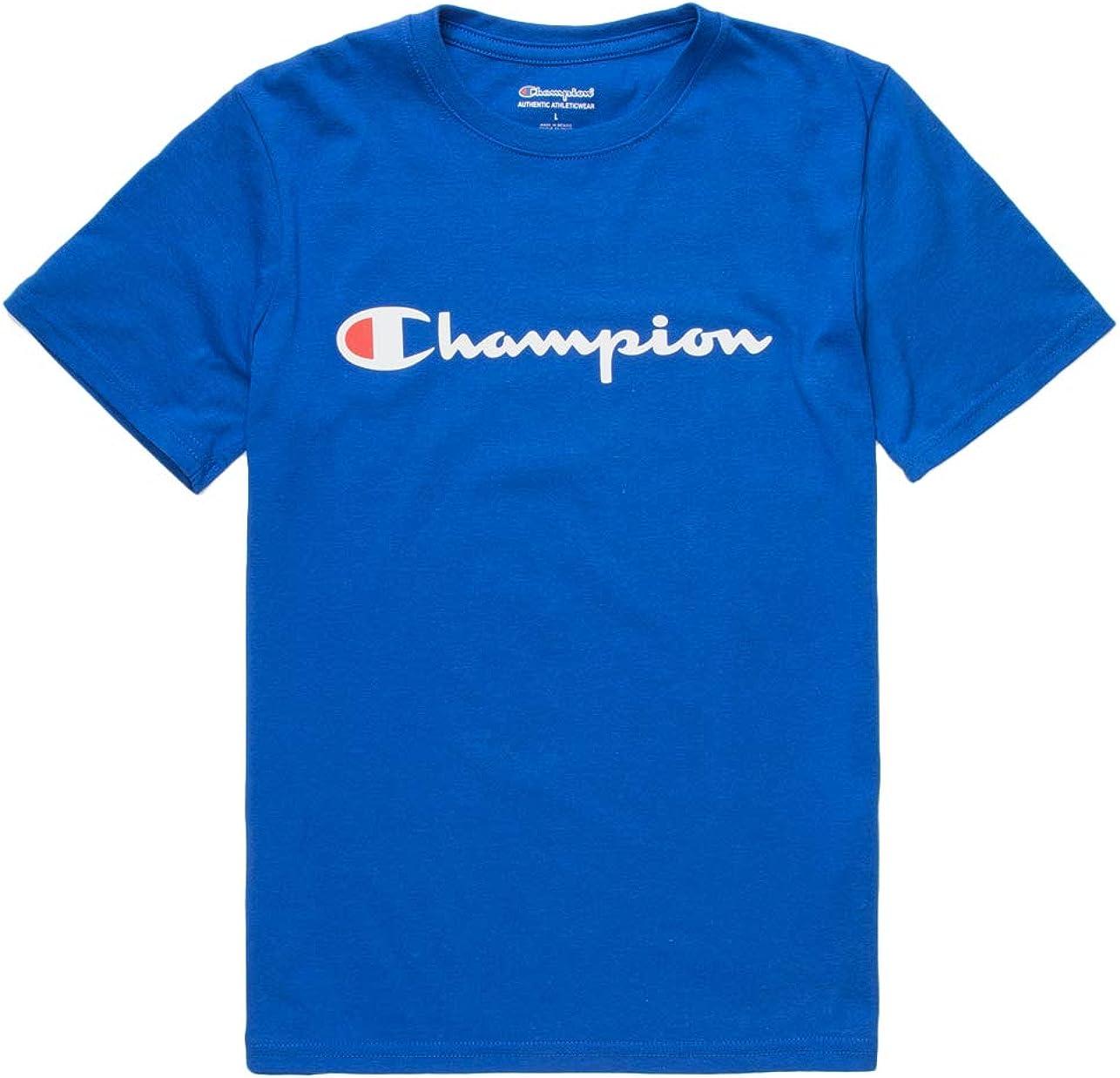 Champion Boys Short Sleeve Logo Tee Shirt