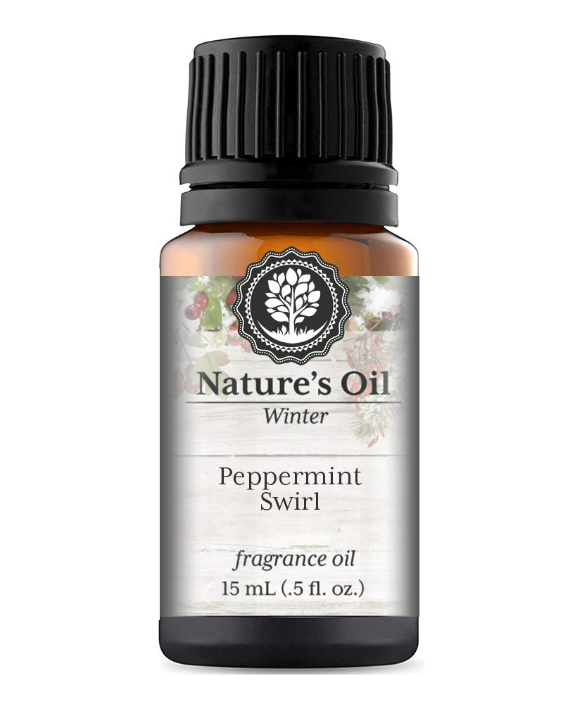 Peppermint Swirl Fragrance Oil (15ml) For Diffusers, Soap Making, Candles, Lotion, Home Scents, Linen Spray, Bath Bombs, Slime