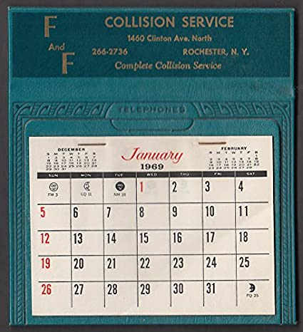 Calendar 1969.F F Collision Service Rochester Ny Desktop Calendar 1969 At Amazon S
