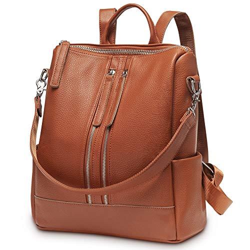 Modoker Travel Backpack Purse for Women Convertible Leather Shoulder Weekender Bag ()