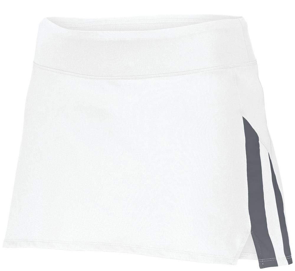 Augusta Sportswear Girls Full Force Skort M White/Graphite by Augusta Sportswear