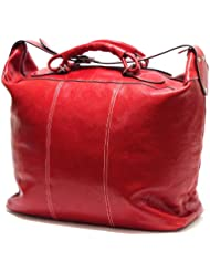Floto Luggage Piana Tote Leather Bag, Tuscan Red, Large