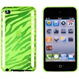 Green Zebra Striped Flexi TPU Case for Apple iPod Touch 4G (4th Generation)