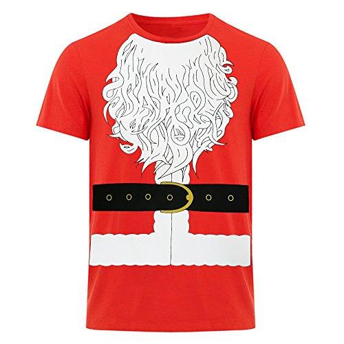 T-shirt Christmas Santa (Fresh Tees Santa Claus Novelty T-shirt Christmas Shirts)