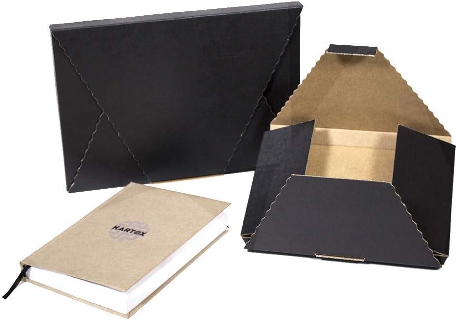 Kartox   Caja en Cruz   Caja Sobre   Caja Regalo de Cartón Negro   Talla S   10 Unidades: Amazon.es: Oficina y papelería