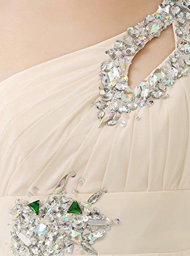 Brautjungfer Abendkleid Kleid drasawee Lang Shoulder Party Damen Ball Chiffon Königsblau One qwgw8Stz