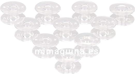 10 Canillas para maquinas de Coser de plastico, Alfa, Singer ...