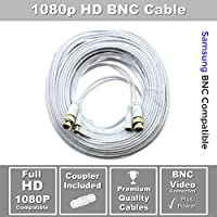 STS-FHDC60 Full HD 1080p Premium 60 BNC Cable with Coupler Compatible with Samsung BNC Systems