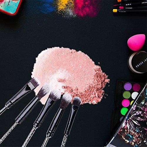 Wizard Wand Brushes,Wechip 5 PCS Harry Potter Makeup Brushes Set Metal for Foundation Blending Blush Concealer Eyebrow Face Powder