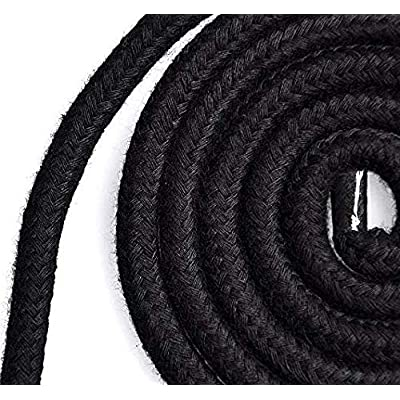SUMMERWY Soft Rope Cord, 2Pcs 10 M/33 Feet 8 MM All Purpose Cotton Rope Craft Rope Thick Cotton Cord (Black+red+Purpl)