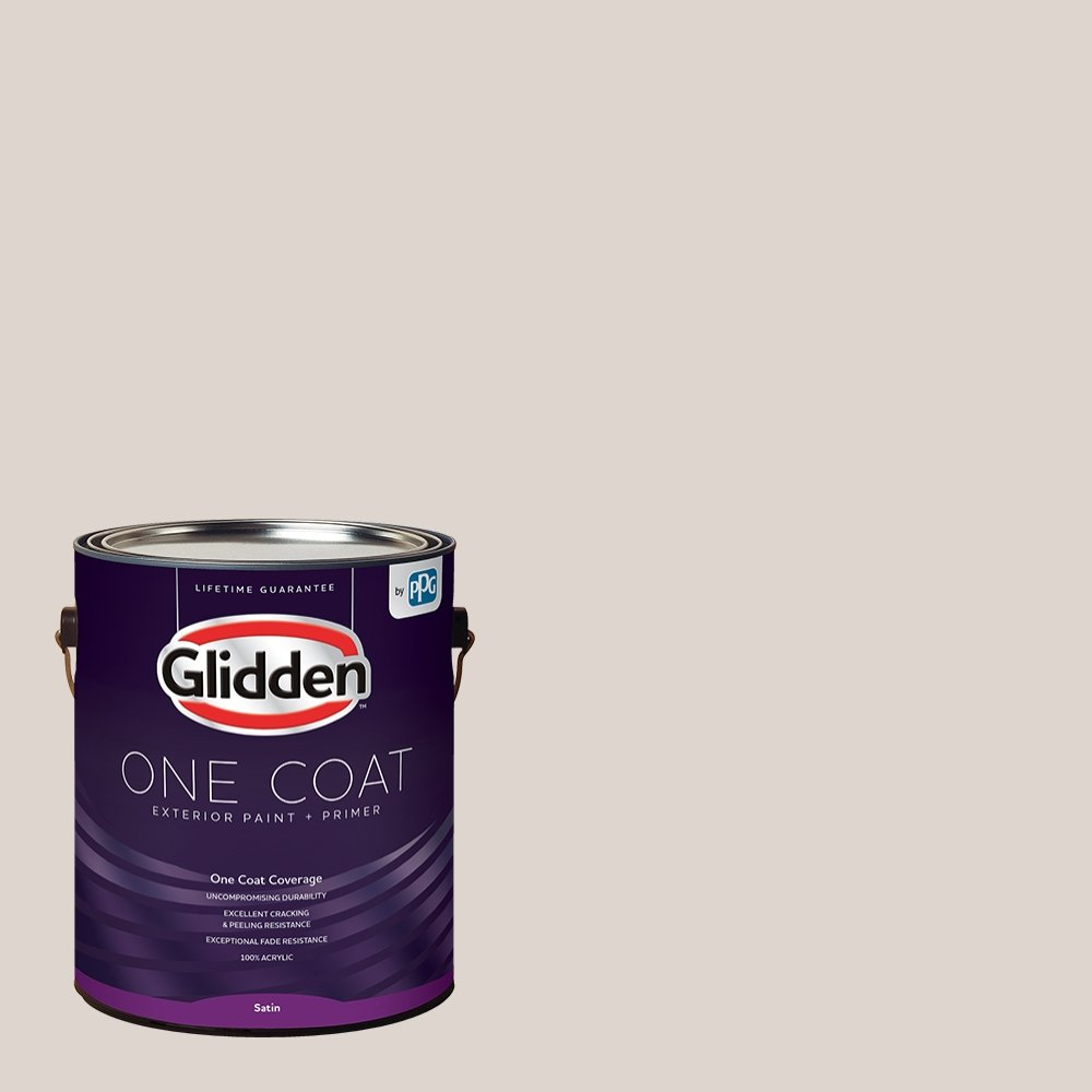 Glidden Exterior Paint + Primer: Greige/Steel Me, One Coat, Satin, 1-Gallon