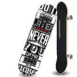 QYSZYG Double-up Skateboard Adult Beginner Entry-Level Professional Board Action Short Board Scooter Skateboard (Color : A)