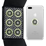 Cell Phone Radiation Protector Shield Sticker-The Best EMR Neutralizer EMF Neutralizer Protector -For all Cell Phone, WiFi, iPhone, iPad - Radiation Protection (silver 6pcs)