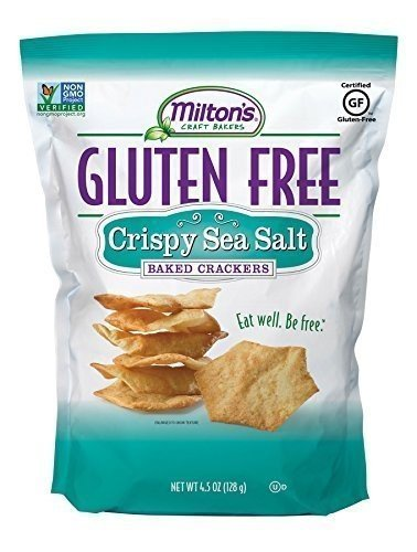 Milton's Craft Bakers Gluten-free Baked Crackers, Sea Salt 4.5 Ounce (Pack of (Gluten Free Crackers)