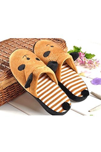 Men 1 Slippers Winter White Home Women Bedroom Warm 39 Animal Panda Couples of Brown Pair Lovers Size Cartoon 38 Indoor Pattern Shoes qrZrwtP