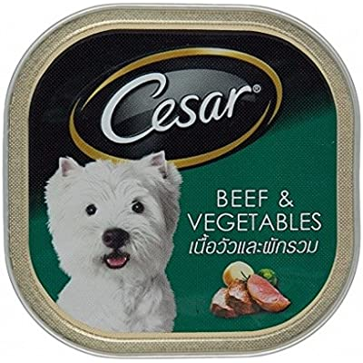 Cesar Classic & Deluxe Beef & Vegetables 3.5 Oz (Pack of 6)