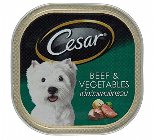 Cesar Classic & Deluxe Beef & Vegetables 3.5 Oz (Pack of 6) (Genie Pig Ball)