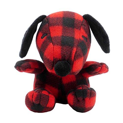 Hallmark Plush Snoopy, Holiday Festive Red and Black Buffalo Plaid