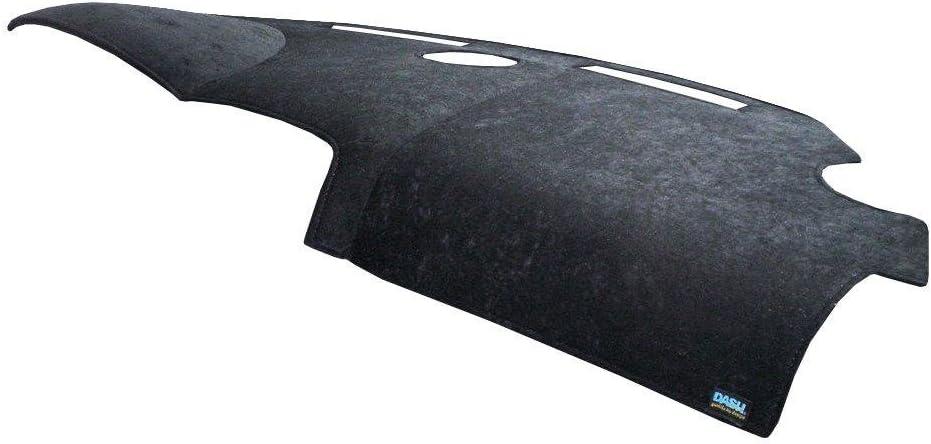 Dash Designs D1405-0BBK Black Brushed Suede Dash Cover