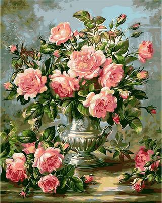 Oil Resin Stone Vase (WiHome 5D Diamond Painting Kits for Adults Full Drill French Vase Embroidery Rhinestone Painting)